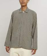 Oliver Spencer Povera Striped Seersucker Shirt