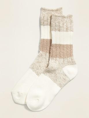 Old Navy Textured Crew Socks for Women