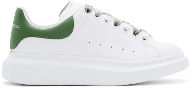 Alexander McQueen White and Green Degrade Oversized Sneakers