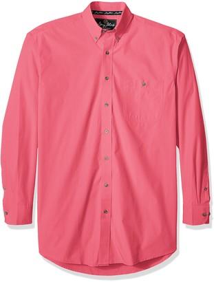Wrangler Men's Western George Strait One Pocket Button Long Sleeve Woven Shirt