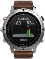 Garmin Unisex Fenix Chronos Brown Leather Strap Smart Watch 30mm 010-01957-00