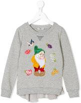 MonnaLisa Bashful appliquéd sweatshirt