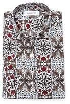 Aglini Men's Multicolor Cotton Shirt.