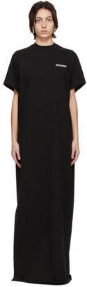 we11done Black Logo Long T-Shirt Dress