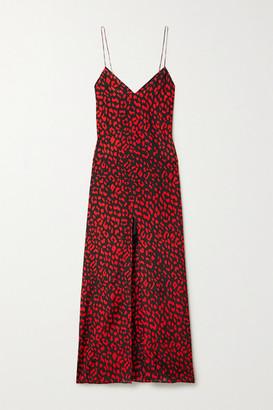 Alice + Olivia Alice Olivia - Candice Leopard-print Silk Maxi Dress - Red