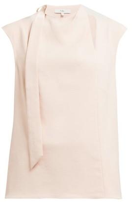 Tibi Chalky Drape Tie Crepe Top - Womens - Light Pink
