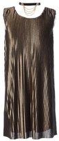 My Michelle Big Girls 7-16 Sleeveless Metallic Pleated Dress
