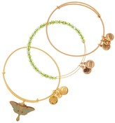 Alex and Ani Moss Luna Moth Bangle Set