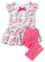 juicy couture (Infant Girls) Two-Piece Floral Lace Tunic & Leggings Set