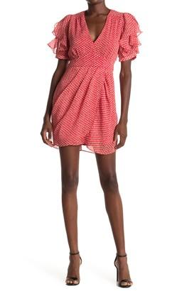Collective Concepts Ruffle Sleeve Sheath Dress