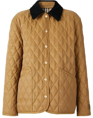 Burberry Corduroy-Collar Quilted Jacket