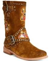 Frye Women's Nat Flower Engineer Boots