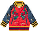 Gucci Baby bomber jacket with dragons