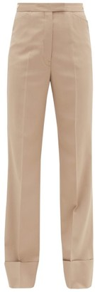 Lemaire Turned-up Twill Straight-leg Trousers - Beige
