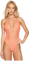 Luli Fama Take Me to Paradise Plunge Cheeky One-Piece Women's Swimsuits One Piece