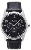 BOSS Heritage Chronograph Leather Strap Watch, 43mm