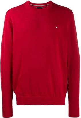 Tommy Hilfiger logo embroidered sweater