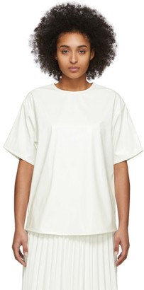 MM6 MAISON MARGIELA Off-White Coated Zipped Blouse