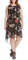 Karen Kane Plus Size Women's Kane Kane Floral High/low Dress
