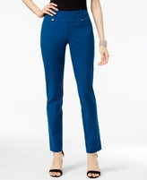 Alfani Petite Tummy-Control Slim-Leg Ankle Pants, Created for Macy's