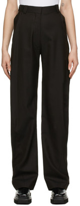 Eftychia Brown Herringbone Grampa Trousers