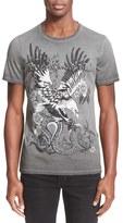 Just Cavalli Men's 'Distressed Tattoo' Graphic T-Shirt