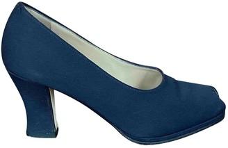 Prada Blue Leather Heels