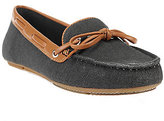 As Is Liz Claiborne New York Canvas Moccasins with Bow Detail