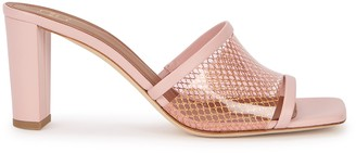 Malone Souliers Demi 70 pink leather mules