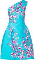 Monique Lhuillier single shoulder dress - women - Silk/Cotton/Spandex/Elastane - 4