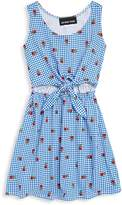 Un Deux Trois Girl's Gingham Sleeveless Dress