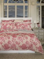 Sheridan Gallice rouge oxford pillowcase pair, intricately