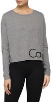 Calvin Klein CROP LONG SLEEVE LOGO TEE WITH RUBBER LOGO
