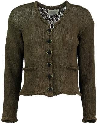 Scarecrow Khaki Cotton Cardigan