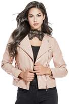 GUESS Women's Emmi Faux-Leather Jacket