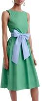 J.Crew Women's Sash Tie A-Line Dress