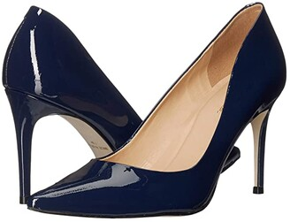 Massimo Matteo 90 mm Pointy Toe Pump (Black Leather) Women's Shoes