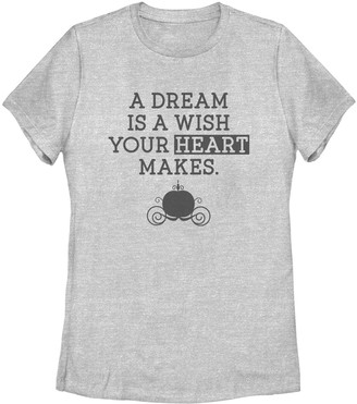 Licensed Character Juniors' Disney's Cinderella A Dream Is A Wish Tee