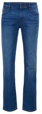 BOSS Regular-fit jeans in ocean-blue comfort-stretch denim