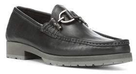 Donald J Pliner Lelio Leather Bit Loafers