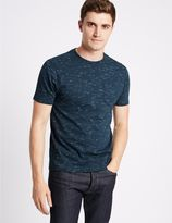 Marks and Spencer Cotton Rich Slim Fit Crew Neck T-Shirt