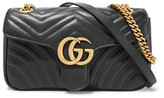 Gucci Gg Marmont 2.0 Small Quilted Leather Shoulder Bag - Black