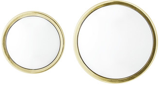 Bloomingville Art Deco Round Mirror - Gold - Set of 2