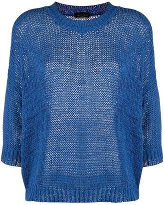 Roberto Collina chunky knit crew neck jumper