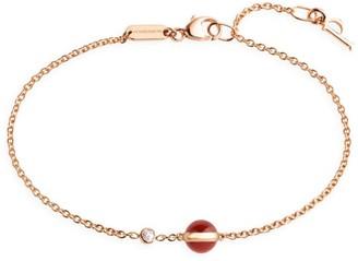 Piaget Possession 18K Rose Gold Carnelian & Diamond Bracelet