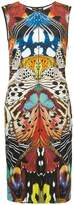 Roberto Cavalli printed fitted dress