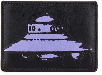 Valentino Card Holder in Black | FWRD