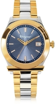 Salvatore Ferragamo 1898 Gold IP and Silver Tone Stainless Steel Men's Watch