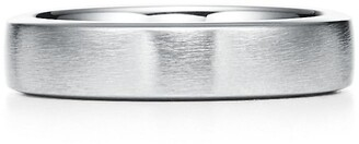 Tiffany & Co. Essential Band satin finish ring in platinum, 5 mm wide