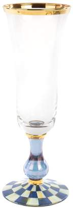 Mackenzie Childs Royal Check Champagne Flute